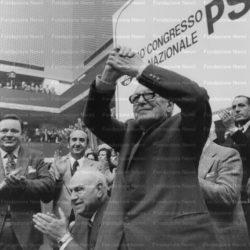 Nenni e De Martino al XL Congresso del PSI